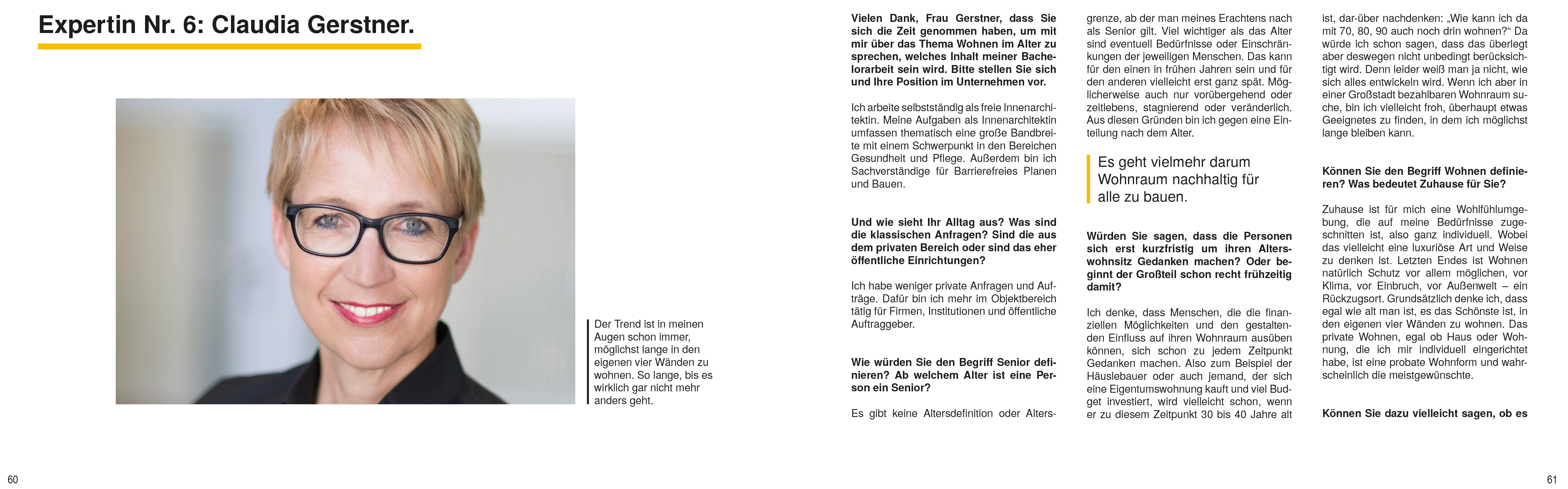 Interview Claudia Gerstner, Katharina Scharping